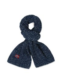 Napapijri | Blue Scarf for Men | Lyst
