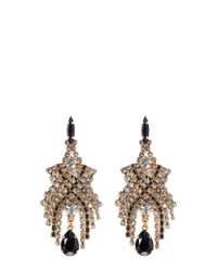 Aerin | Metallic X Erickson Beamon Crystal Chain Mesh Drop Earrings | Lyst
