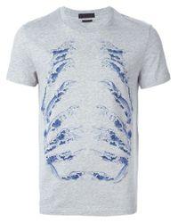 Alexander McQueen | Gray Wave Motif T-shirt for Men | Lyst