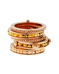 Henri Bendel - Metallic Deluxe Hand Me Down Stack Ring - Lyst