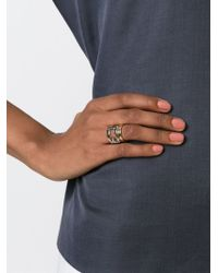 Fendi - Metallic 'the Sta' Ring - Lyst