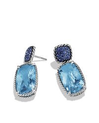 David Yurman | Chatelaine Drop Earrings with Blue Topaz Blue Sapphires | Lyst