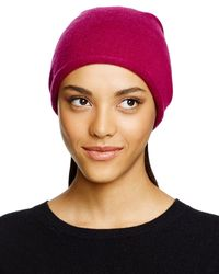 C By Bloomingdale's | Red Cashmere Angelina Slouchy Hat | Lyst