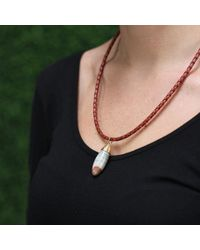 Pamela Huizenga | Metallic Saturn Chalcedony Pendant | Lyst