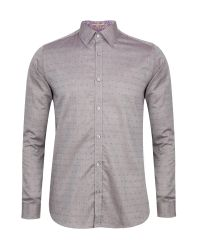 Ted Baker - Brown Mymate Fil Coupé Shirt for Men - Lyst