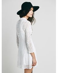 Free People - Black Womens Flowers On The Wall Fit And Flare - Lyst