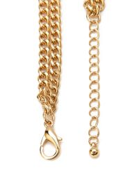 Forever 21 - Metallic Chained Faux Gemstone Necklace - Lyst