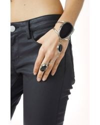 Natalie B. Jewelry | Black Two Raven Slave Bracelet | Lyst