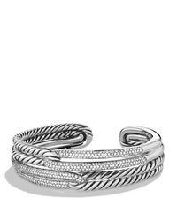 David Yurman | Metallic Labyrinth Double-loop Cuff With Diamonds | Lyst