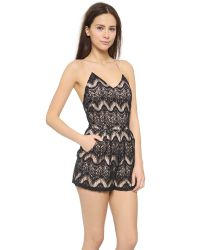 6 Shore Road By Pooja - Colonial Lace Romper - Black Rock - Lyst