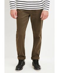 Forever 21 | Green Cuffed Slim Fit Jeans for Men | Lyst