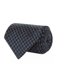 Tom Ford - Blue Houndstooth Jacquard Tie for Men - Lyst