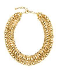 Jose & Maria Barrera | Metallic Layered Multi-chain Necklace | Lyst