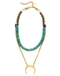 Lizzie Fortunato | Blue The Snake Charmer Covertible Necklace - Turquoise Multi | Lyst