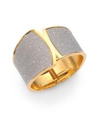 ABS By Allen Schwartz | Metallic Glitter Cuff Bracelet | Lyst