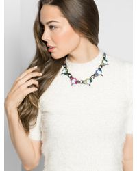 BaubleBar - Multicolor Crystal Spike Curb Collar - Lyst