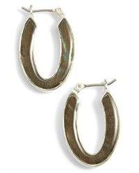 Anne Klein | Metallic Mother-of-pearl Drop Earrings | Lyst