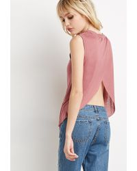 Forever 21 - Pink Tulip-back Muscle Tee - Lyst