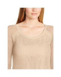 Ralph Lauren - Brown Linen-cotton Mesh Sweater - Lyst