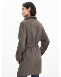 Banana Republic   Brown Belted Wrap Coat   Lyst