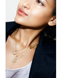 Melinda Maria | Metallic 'Pyramid' Pendant Necklace | Lyst