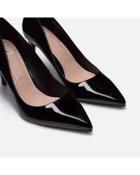 Zara | Black High Heel Shoes With Metal Detail | Lyst