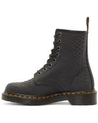 Dr. Martens - Black Python 8_eye 1460 Boots - Lyst
