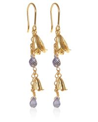 Alex Monroe - Metallic Goldplated Bluebell Drop Earrings - Lyst