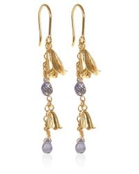 Alex Monroe | Metallic Goldplated Bluebell Drop Earrings | Lyst