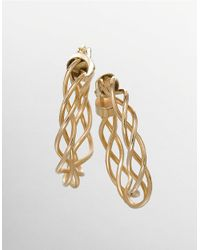 Lord & Taylor | Metallic Braided Hoop Earrings In 14k Yellow Gold | Lyst