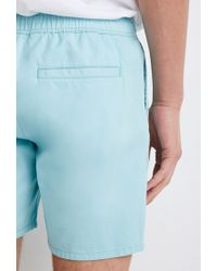 Forever 21 - Blue Drawstring Chino Shorts for Men - Lyst