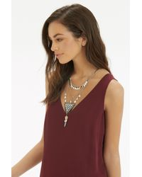 Oasis - Gray Ethnic Layered Necklace - Lyst