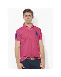 Polo Ralph Lauren | Pink Custom-fit Big Pony Polo for Men | Lyst