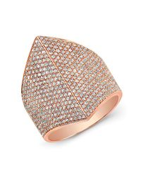 Anne Sisteron | Pink 14kt Rose Gold Diamond Helmet Ring | Lyst