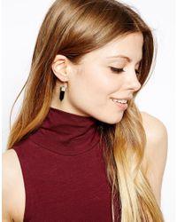 ASOS - Green Semi Precious Drop Earrings - Lyst
