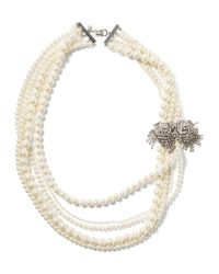 Banana Republic | White Pearl Strand Necklace | Lyst