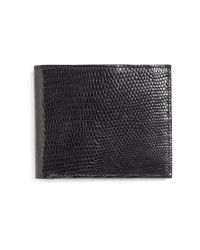Brooks Brothers | Black Lizard Wallet for Men | Lyst