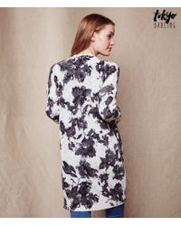 Tokyo Darling | Natural Monochrome Floral Cardigan | Lyst