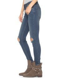 Free People   Blue Destroyed Jeans - Patsy   Lyst