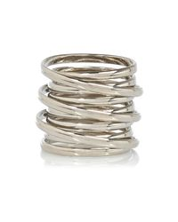 River Island - Metallic Silver Tone Spiral Ring - Lyst