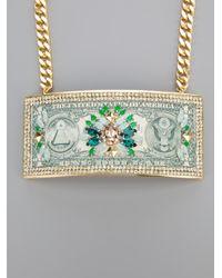 Bijoux De Famille   Green 'manhattan Bridge' Necklace   Lyst