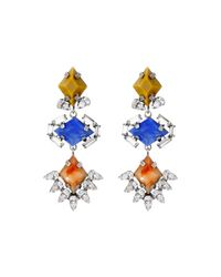 DANNIJO | Blue Dayna Earrings | Lyst