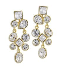 Kenneth Jay Lane | Metallic Crystal Cluster Clip Earring | Lyst