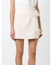 J.W.Anderson - Natural Buckled Mini Skirt - Lyst