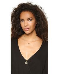 Sam Edelman | Metallic Baby Ring Pendant Necklace - Gold | Lyst