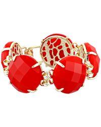 Kendra Scott | Red Cassie Bracelet | Lyst