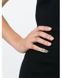 Stella McCartney | Metallic Nail-shaped Pinkie Ring | Lyst