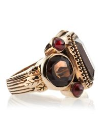 Stephen Dweck - Metallic Smoky Quartz-garnet Ring - Lyst