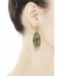 Kimberly Mcdonald - Metallic 18K Gold, Opal, Diamond Slice And White Diamond Drop Earrings - Lyst