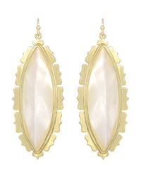 Kendra Scott | Metallic Joelle Motherofpearl Earrings Ivory | Lyst